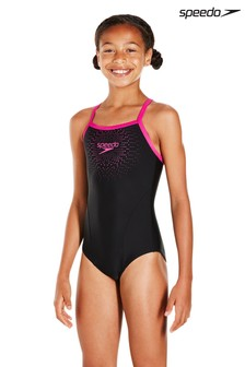 Speedo® Black Gala Medalist Swimsuit