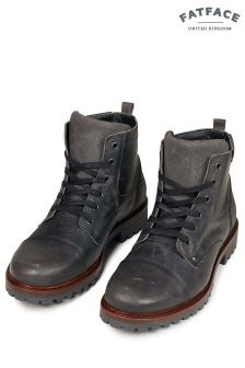 FatFace Charcoal Abbott Lace-Up Boot