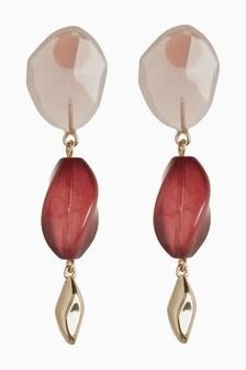 Resin Stone Drop Earrings