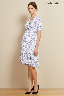 Isabella Oliver White Lullah Maternity Dress