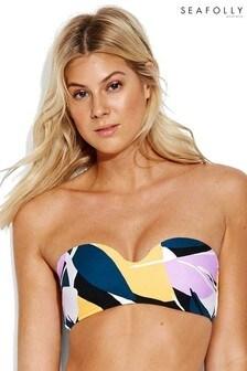 Seafolly Cut Copy Bustier Bandeau Bikini Top