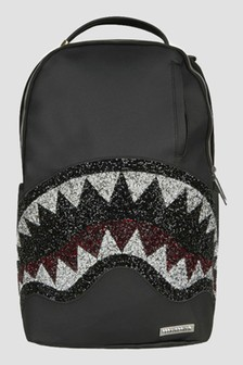 Sprayground Kids Black Trinity 2.0 Shark Bag