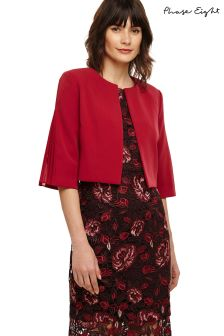 Phase Eight Deep Rasberry Blair Pleat Back Jacket