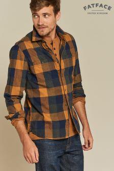 Chemise à carreaux FatFace Wrexham marron