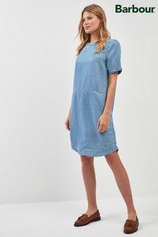 שמלה מבד שמבריי של Barbour® דגם Seaward בכחול