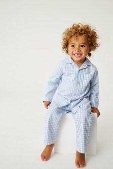 Gingham Button Through Pyjamas (12mths-8yrs)