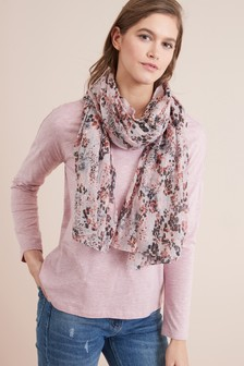 Floral Scarf Layer Top