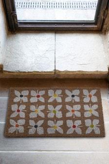 Geo Floral Print Doormat