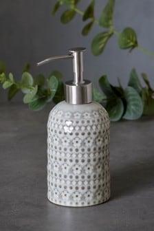 Embossed Floral Soap Dispenser