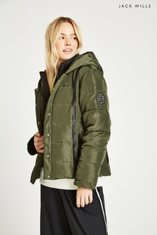 Jack Wills Khaki Cuffley Padded Jacket