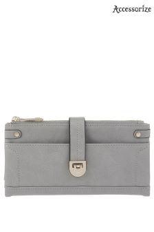 Accessorize Grey Fliplock Foldover Wallet