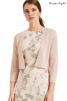 Phase Eight Pink Salma Shimmer Knitted Jacket