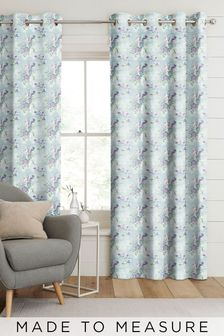 Vintage Bouquet Teal Green Made To Measure Curtains