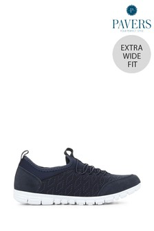 Pavers Navy Ladies Extra Wide Fit Trainers