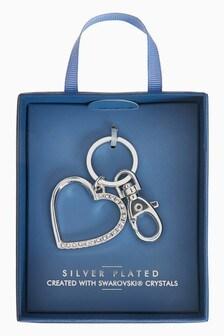 Heart Keyring With Swarovski® Crystals