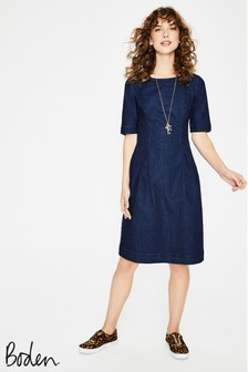 Boden Blue Alice Denim Dress
