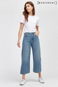 Warehouse Blue Fashion Wide Cut Jean