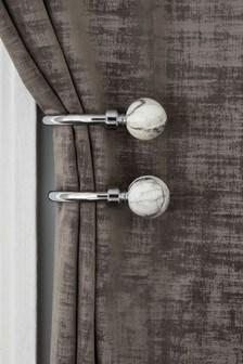 Набор из 2 держателей для штор с мраморным эффектом