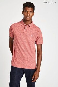 Jack Wills Pink Langold Jaspe Pique Polo