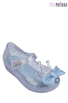Mini Melissa Silver Glitter Ultragirl Princess Ballerina