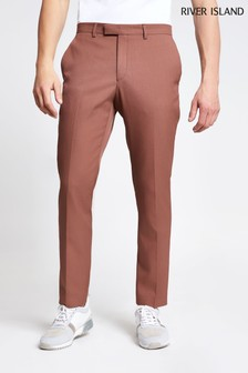 River Island Taupe Wendy Twill Skinny Trouser