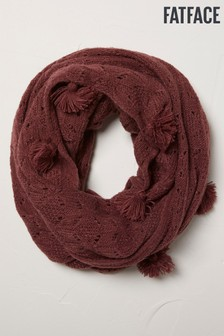 FatFace Purple Pointelle Knitted Snood