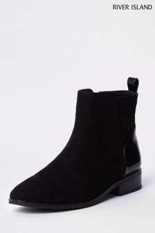 60b1f0ce7ae9 River Island Black Ankle Boot