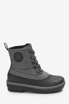 Сапоги на шнурках с резиновым низом (Подростки)