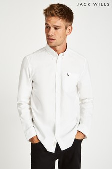 Jack Wills White Wadsworth Oxford Plain Shirt