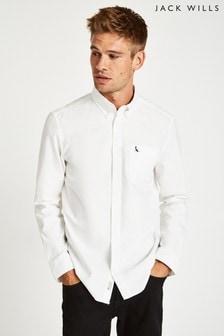 Biała gładka koszula Jack Wills Wadsworth