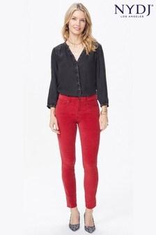 NYDJ® Red Sheri Slim Leg Velvet Jean