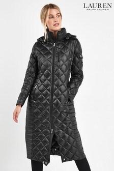 Lauren Ralph Lauren® Black Quilted Maxi Coat