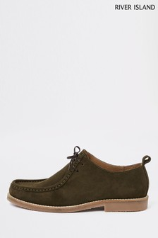 River Island Green Suede Shoe