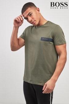 BOSS Khaki Chest Logo T-Shirt