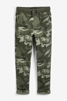 Rib Waist Pull-On Trousers (3-16yrs)