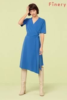 Finery London Cobalt Hettie Wrap Dress