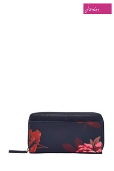 Joules Blue Printed Canvas Purse