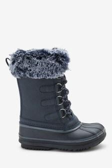 Faux Fur Snow Boots (Older)