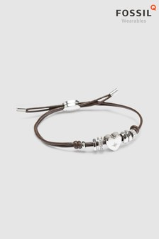 Fossil™ Leather Charm Bracelet