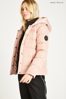 Jack Wills Pink Cuffley Padded Jacket