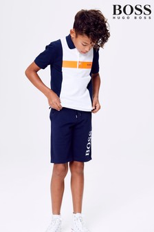 BOSS Navy Jersey Short