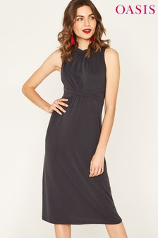 שמלת מידי של Oasis דגם Grecian באפור
