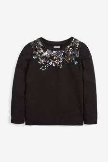Scatter Sequin Long Sleeve T-Shirt (3-16yrs)