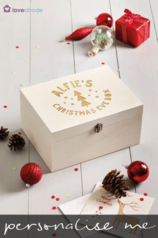 Personalised Wooden 1st Christmas Box by Loveabode