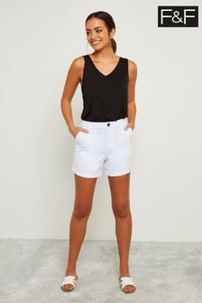F&F White Chino Short