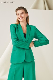 Mint Velvet Ivy Cropped Tailored Blazer