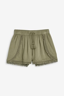 Pom Pom Trim Shorts (3-16yrs)