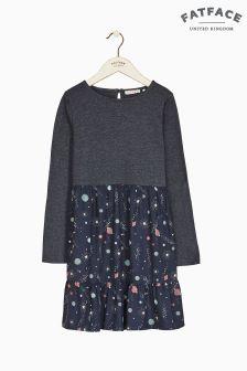 FatFace Blue Space Print Woven Dress