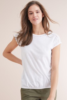 a941fa034 Womens White T Shirts | Printed & Ruffle White Shirts | Next