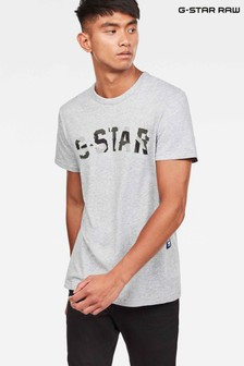 G-Star Grey HTR Graphic 10 T-Shirt